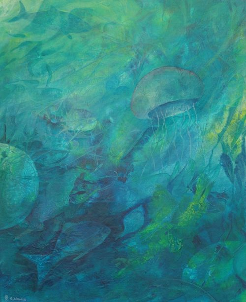 Blue Medium Original Abstract Painting