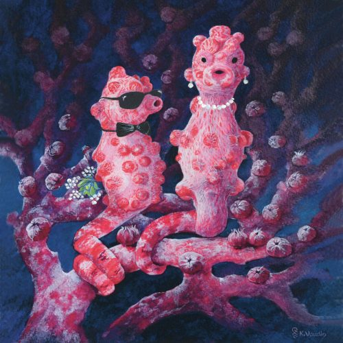 Pygmy Seahorse Attraction Art Card