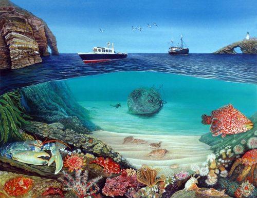 Shetland underwater print