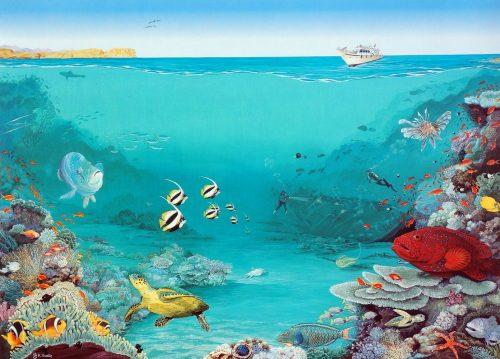 Art print of Between the reefs