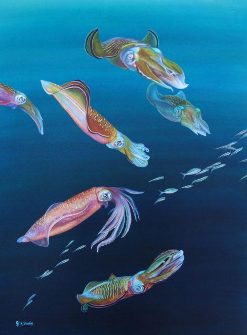 Squid Original Painting