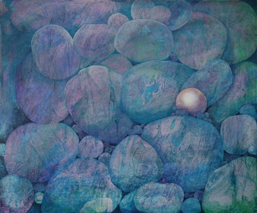pebble pearl abstract painting