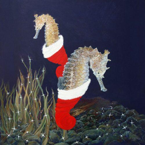 Seahorse christmas card