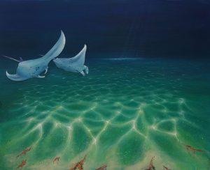 Manta Rays Original Painting