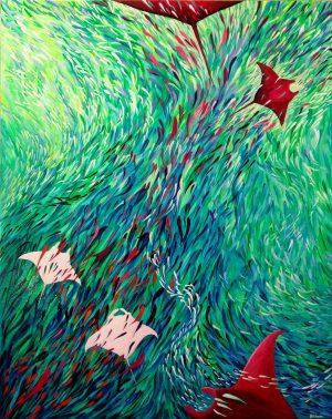 Manta ray painting