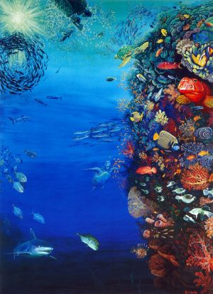 Coral reef wall painting