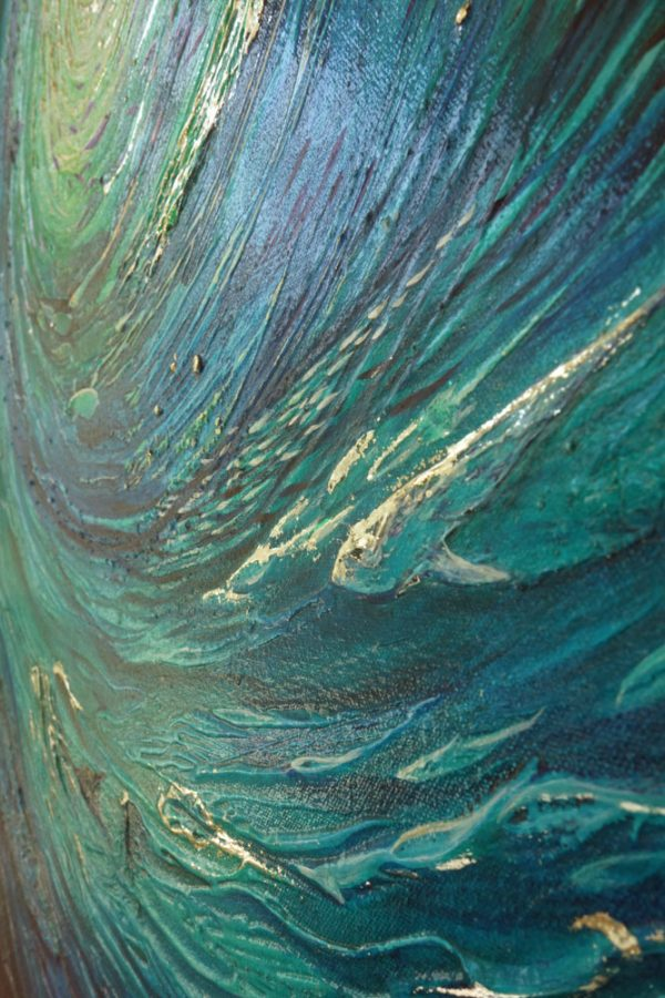 Section of underwater abstract painting -1.