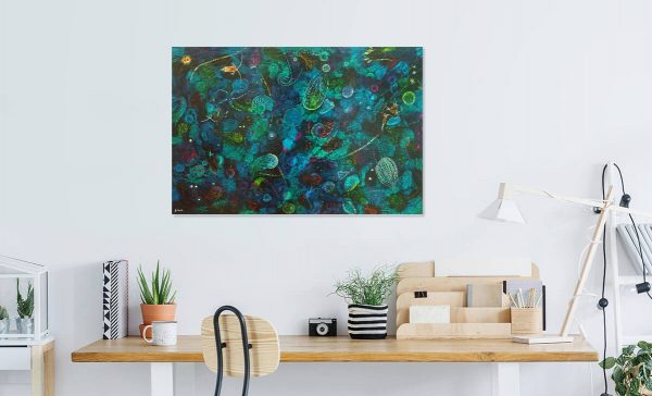 Plankton abstract painting