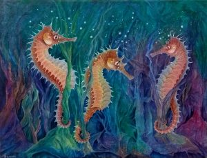 Seahorse painting by Deep Impressions