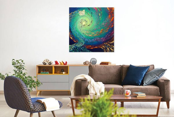 Fish nautilus original painting