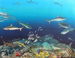 Blue corner, Palau, Micronesia by Deep Impressions