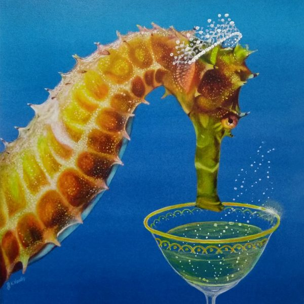 Seahorse art card by Deep Impressions