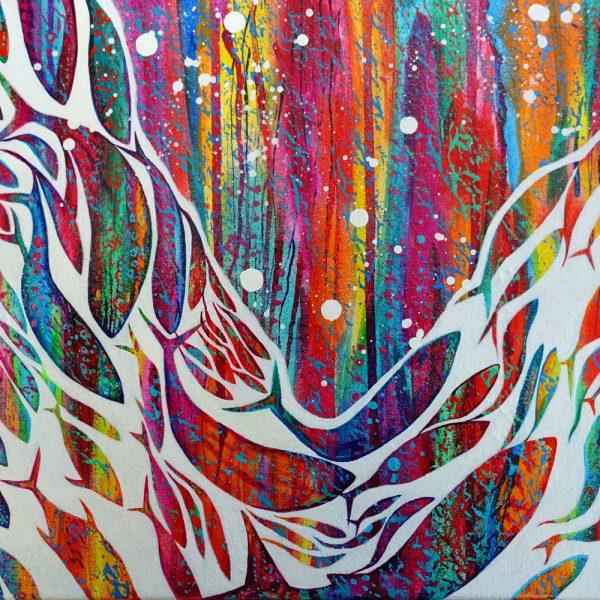 Abstract fish mini canvas