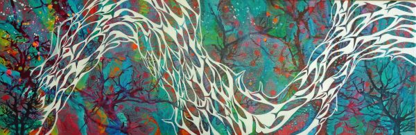 Abstract fish painting by Deep Impressions
