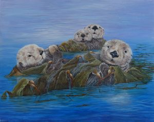 Original painting of Sea Otters