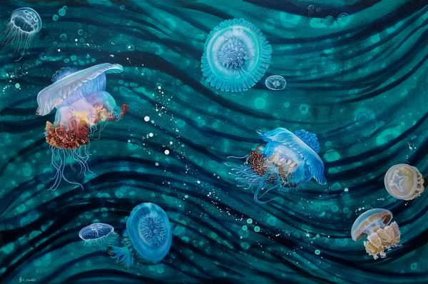 Jellyfish painting by Deep Impressions