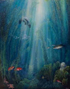 Kelp forest painting