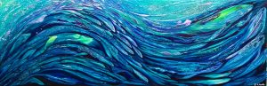 Fish abstract painting by Deep Impressions