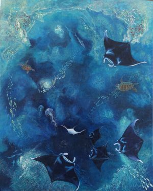 Manta painting by Deep Impressions