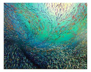 Fish swirl abstract art