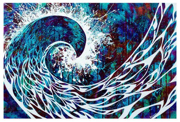 Wave crest artwork