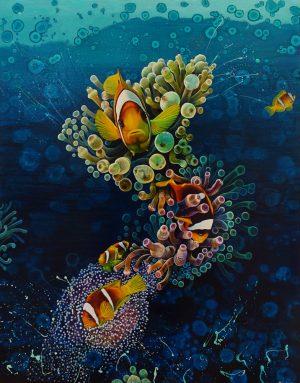 Clownfish original painting