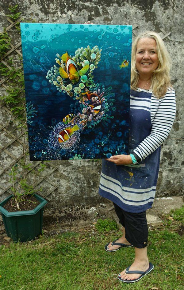 Clownfish painting