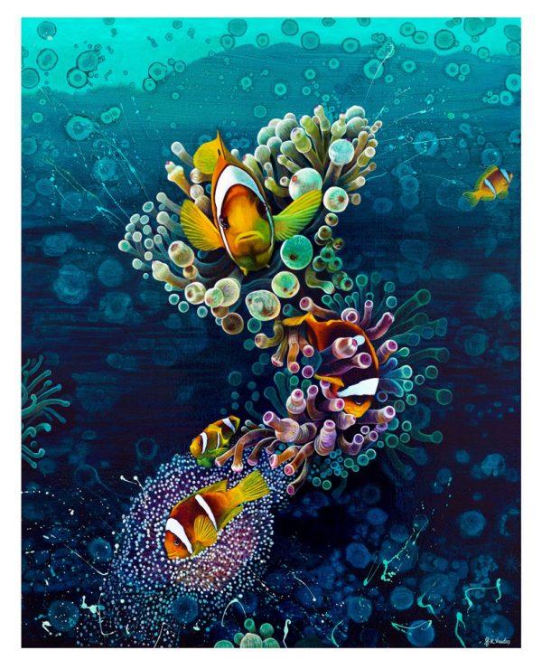 Clownfish anemone print